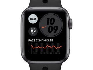 Apple Watch SE Nike 44mm, Space Gray / Anthracite / Black
