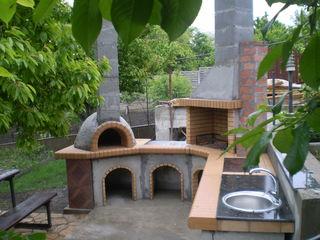 Барбекю. летняя кухня.