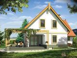 Уютный, современный, тёплый, прочный дом белый вариант
