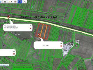 Vind urgent teren agricol traseul straseni calaras 1200 lei aru 350 ari linga traseu