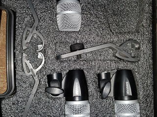 Shure PG 56 Drum Mics +kleme  in cheis.
