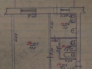 Apartament cu o camera in centrul or. Rezina mobiliata integral