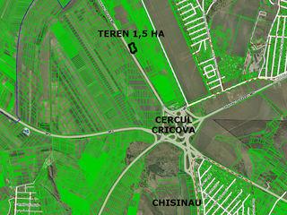 1,5 ha   la drum  Chiisnau-Orhei  1500 euro/sota