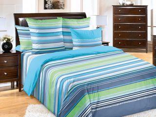 Lenjerie de pat bumbac Dakota Blue (2 pers.). Posibil în credit!!