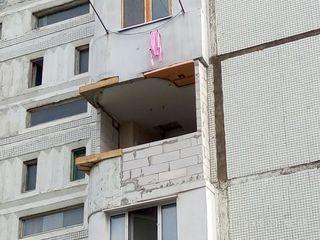 Расширение балконов, лоджий, кладка из газоблоков (газобетона) Renovarea și extinderea balcoanelor