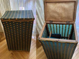 Плетёная большая корзина для белья 40х28х68 - 200л.