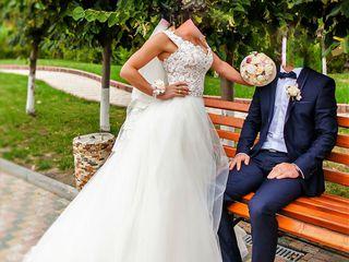 Свадебное платье ручной работы.