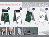 Tablă/Stand/Banner cu scriere cretă sau marker! Ideal pentru bar, restaurant sau cafenea!