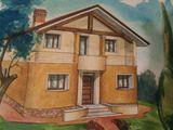 Vând casă, 2 nivele, 200 m2, 10 ari, aproape de Chișinău, s. Răzeni, Centru