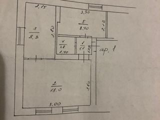 Apartament 2 odăi = 10800 euro criuleni!