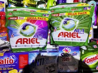 Ariel capsule coloror sau universal 70bucati = 340 lei, Persil 4in1 capsule (Germania)...
