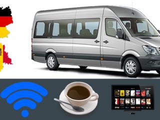 Пассажирские перевозки и посылки Молдова, Германия, Чехия! Низкие цены! Wifi, Cafea, TV и другое