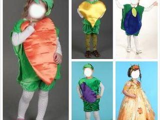 Карнавальные костюмы овощей, фруктов, насекомых, зверей (продажа/прокат)