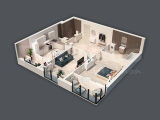 Apartament de 74,50 m2 cu 2 odăi! Prima rată de la 30%!