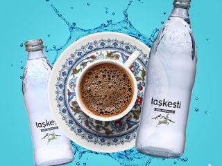 Apă naturală plată Tașkesti (sticlă) vol. 0,33 lit-6 lei , 0,75 lit-8 lei/PH 8.00, cu livrare