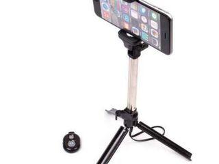 Selfie stick tripod 3 in 1 cu telecomanda bluetooth detasabila!