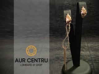 Cercei de aur золотые сережки