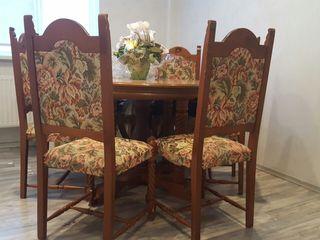 Masa cu scaune lemn italia