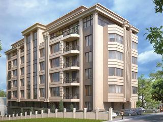 87m2, Buiucani, str. Paris, bloc locativ nou cu 5 etaje, cărămidă, ascensor