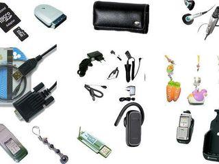 Гарнитуры, плёнки, аккумуляторы, зарядки, кабели для смартфонов и мобильных телефонов !!!