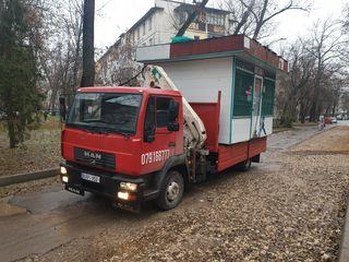 servicii de transport cu cran manipulator prin Moldova
