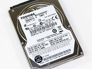 HDD 500/320/250 gb , laptop/ноутбук 2,5 (100% без бэдов 50дней наработки) 350 лей