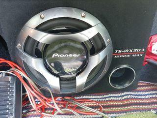 Буфер Pioneer 1200w+ моноблок Sony + провода 125 евро