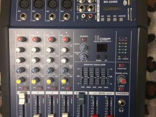 Микшерный пульт с усилителем Yamaha MX-4200(блютуз)- 2*250 MP3(новый)