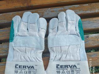 перчатки замш