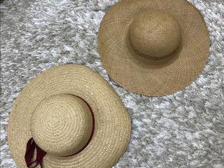 Palarie palarii din paie pentru plaja. Соломенная шляпа