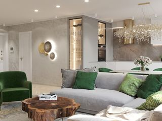 Дизайнерская квартира в 2 уровня