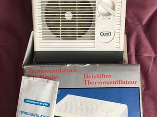 Încălzitor electric, în stare bună, produs în Italia, are 2 poziții, lucrează fără mare zgomot, încă