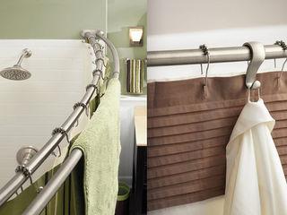 Cornișe pentru baie. Карнизы (трубы) для шторок в ванную комнату.