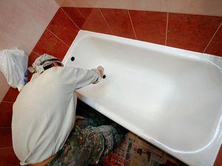Реставрация ванн жидким акрилом чугунных, железных и акриловых ванн, гарантия