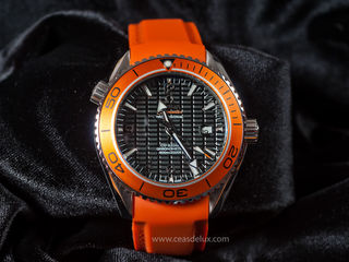 Ceas nou - Omega Orange rubber - 165 euro