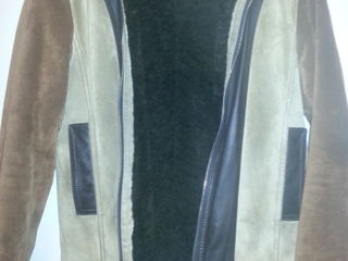 Зимняя фирменная D&G куртка кожа, замша, мех , куртка кожа-мех
