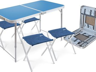 Набор стол складной и 4 стула складных
