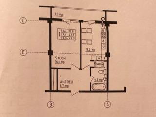 Stăuceni vânzare apartament cu 1 cameră în varianta albă !