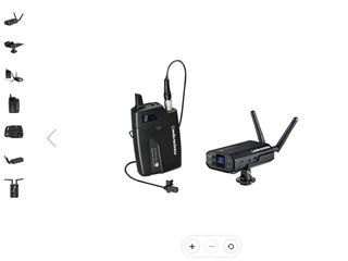 Audio-Technica ATW-1701/L System 10 Digital Camera-Mount Wireless Omni Lavalier Microphone