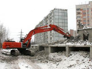Услуги строительной техники снос домов вывоз мусора хлама демонтаж сооружений выкорчевка пней