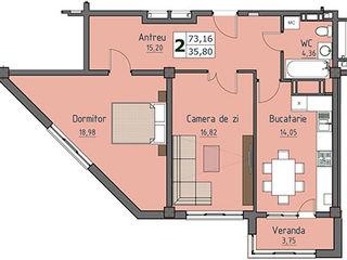 2-комнатная квартира с индивидуальным дизайном. Новострой. Сдача - через 2 недели! Цена застройщика!