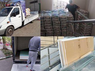 Ridicam și transportăm materiale de constructie,gips-carton,smesi/nisip/ciment