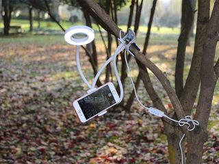 Держатель для телефона +гибкая светодиодная лампа , сэлфи кольцо