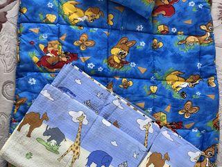 Детское одеяло + подушка + белье / plapuma/ iorgan + perna copii+ lengerie