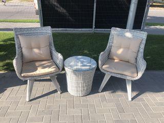 Set masuta + 2 fotolii pentru terasa. - 10 % reducere salon de mobila elegance