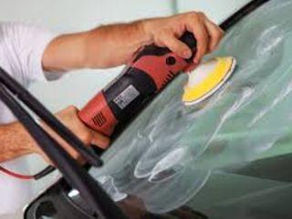 Проффесиональная полировка лобового Бокового стекла фар .Reparatia parbrizelor