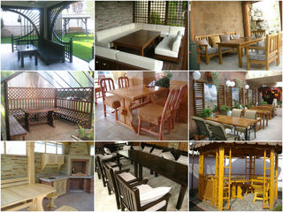 садовая и дачная мебель,лестницы,  перголы, беседки,ограждения,перила, качели, детские домики ,крамы