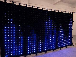 LED perdea flexibila