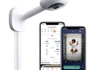 Видеоняня Nanit Plus - Smart Baby Monitor and Wall Mount: Camera with HD Video & Audio