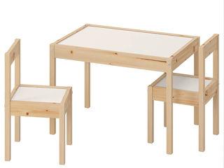 Măsuța si scaunele pentru copii ikea